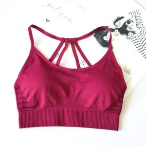 Raspberry Wine Sports Bra